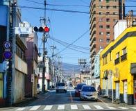 在街道上的汽车在名古屋,日本 库存照片