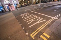 在街道上的没有词条文字 库存照片