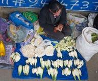 在街道上的秘鲁妇女 瓦拉斯,秘鲁 库存照片