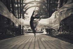 在街道上的芭蕾舞女演员 免版税库存照片