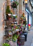 在街道上的花店 免版税图库摄影