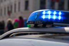 在街道上的警车 免版税库存图片