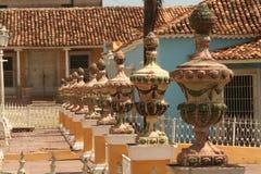 在街道上的雕塑,在特立尼达,古巴 库存图片