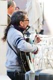 在街道上的音乐 免版税库存照片