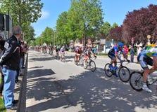 在街道上的Giro d'Italia晨曲。 库存照片