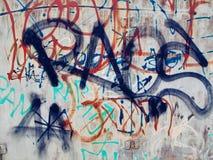在街道墙壁背景的题字 免版税库存照片
