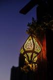 在街道的东方灯 免版税库存照片