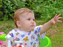 在街道的婴儿作用 库存照片