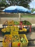 在街道的果子 免版税库存照片