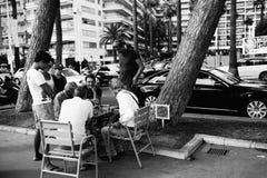 在街道的棋,莫纳科 库存图片