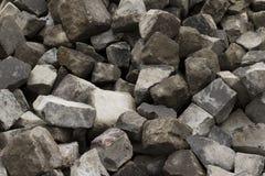 在街道的石头块 免版税图库摄影