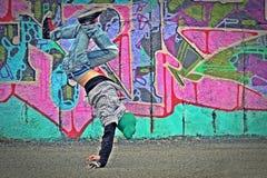 在街道的舞蹈 图库摄影