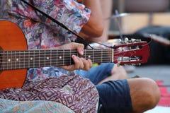 在街道的音乐 免版税库存照片