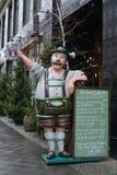在街道的餐馆菜单 免版税库存照片