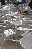 在街道的餐馆,爱丁堡从事园艺 免版税库存图片