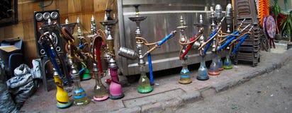 在街道的水烟筒在开罗,埃及 库存图片