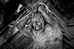 在街道的雕象 免版税库存照片