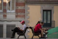 读在街道 免版税图库摄影