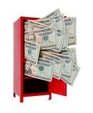 在衣物柜的金钱 图库摄影