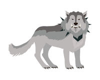 在衣领的灰狼 向量例证