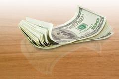在表的货币 免版税图库摄影