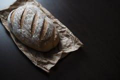 在表的面包 免版税图库摄影
