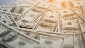 在表的货币 免版税库存照片