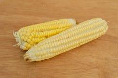 在表面上的玉米 库存照片