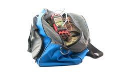 在袋子的定时炸弹 免版税库存照片