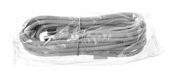 在袋子的查出的USB外延电缆 库存图片