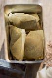 在袋子的立即苦苣生茯咖啡 图库摄影