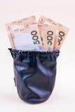 在袋子的货币 库存照片