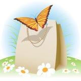 在袋子的蝴蝶 免版税库存图片