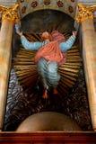 在被加强的中世纪教会金巴夫里面,特兰西瓦尼亚 库存图片