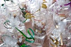在被包装的玻璃的圣诞节曲奇饼 免版税图库摄影