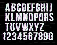 在被变形的作用的小故障字体 E r 向量例证