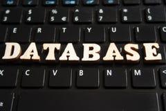 在被回报的白色background.3d的词DATABASE.Isolated 库存图片