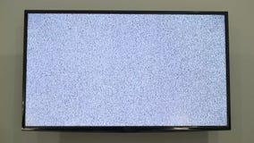 在被带领的电视的空白噪声纹理 股票录像