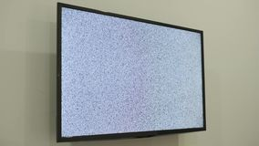在被带领的电视的空白噪声纹理 股票视频