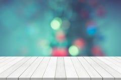在被弄脏的背景圣诞节概念的空的白色台式 库存图片