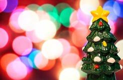 在被弄脏的背景的圣诞树 库存图片