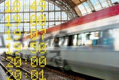 在被弄脏的行动的火车 免版税库存照片