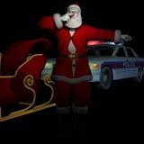 在被拉的圣诞老人 图库摄影