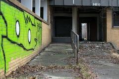 在被放弃的大厦的都市艺术 库存图片