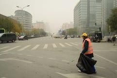 在被污染的空气的一擦净剂 库存图片