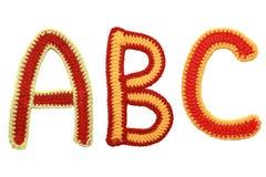 在被编织的手工制造上写字 免版税图库摄影