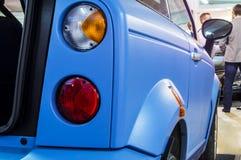 在被连接的汽车的电动车2016年 免版税库存图片