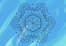 在被遮蔽的蓝色背景的花卉样式 皇族释放例证