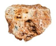 在被隔绝的未加工的岩石的Wulfenite水晶 库存照片