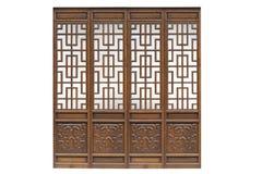 在被隔绝的白色backgrou的中国传统风格木门 免版税库存图片